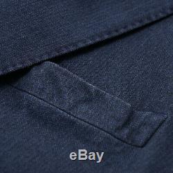 NWT $1625 BOGLIOLI Slim-Fit Indigo Blue Stretch Denim Cotton Suit 44 R