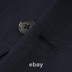 NWT $1625 BOGLIOLI Slim-Fit Navy Blue Fine Stripe Wool Suit 42 R (Eu 52)