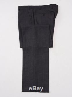 NWT $1695 ARMANI COLLEZIONI'M-Line' Slim-Fit Dark Gray Check Wool Suit 38 R