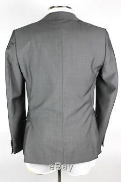 NWT $1695 Z ZEGNA Grey Sharkskin Wool Mohair Suit 50 EU 40 R Drop 8 Slim Fit