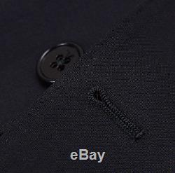 NWT $1795 ARMANI COLLEZIONI'M-Line' Slim-Fit Solid Black Wool Suit 40 R