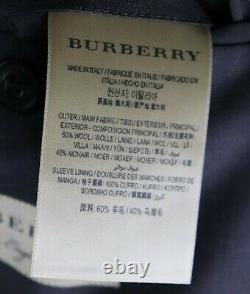 NWT $1895 BURBERRY LONDON Soho 60 Chestnut Brown Wool Mohair Slim Fit Suit 40 R