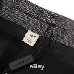 NWT $1995 BURBERRY LONDON Slim-Fit'Chelsea' Solid Gray Wool-Mohair Suit 42 R