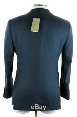 NWT $1995 BURBERRY LONDON'Soho 62' Petrol Blue Melange Wool Slim-Fit Suit 40 R