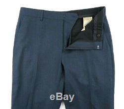 NWT $1995 BURBERRY LONDON'Soho 62' Petrol Blue Melange Wool Slim Fit Suit 40 R