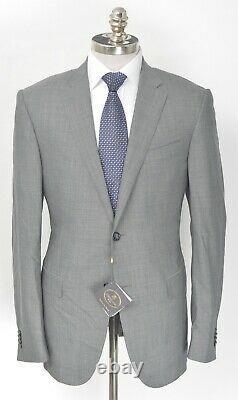 NWT $1995 CORNELIANI Gray Nailhead Wool Slim Fit 2 Btn Suit 42 L (EU 52) Drop 7