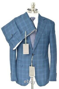 NWT $2,095 CANALI Impeccabile Blue Glen Check Wool Slim Fit Suit 40 R (EU 50)