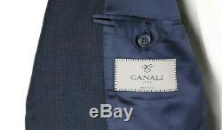 NWT $2195 CANALI 1934 Dark Blue Plaid Year Round Wool Suit Slim-Fit 42 R