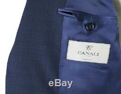 NWT $2195 CANALI 1934 Dk. Blue Check Impeccabile Wool Slim Fit Suit 40 R (50 EU)