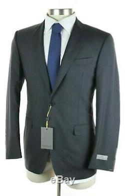 NWT $2195 CANALI 1934 Solid Charcoal Grey Year-Round Wool Suit Slim-Fit 40 R