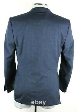 NWT $2195 CANALI 1934 Wool Suit 40 R (50 EU) Light Blue Microcheck Slim Fit