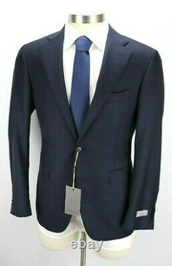 NWT $2195 CANALI 1934 Wool Suit 40 R (50 EU) Navy Blue Slim Fit Two Button Mens