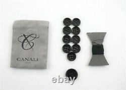 NWT $2195 CANALI 1934 Wool Suit 44 L (54 EU) Grey Melange Slim Fit Two Button