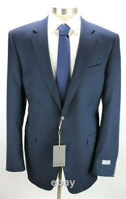 NWT $2195 CANALI 1934 Wool Suit 48 L fits 46 L Natural Comfort Navy Green 58 EU