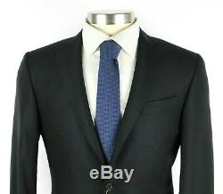 NWT $2195 CANALI 1934 Woven Black Year Round Wool Flat Front Suit Slim-Fit 38 R
