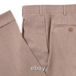 NWT $2195 CANALI Slim-Fit Light Sand Brown Striped Wool Suit 40 R (Eu 50)