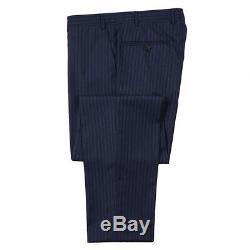 NWT $2195 CANALI Slim-Fit Navy Blue Stripe'Travel' Wool Suit 42 R (Eu 52)