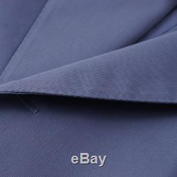 NWT $2395 BELVEST Slate Blue Double-Breasted Cotton Suit 38 R (Eu 48) Slim-Fit