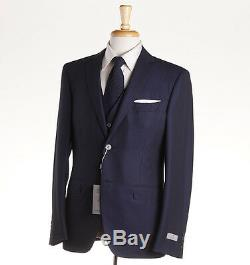 NWT $2395 CANALI 1934 3-Piece Navy Stripe Wool Slim-Fit Suit 42 R (Eu 52)