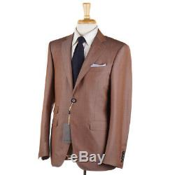 NWT $2395 CANALI 1934 Slim-Fit Caramel Brown Wool-Mohair'Travel' Suit 40 R