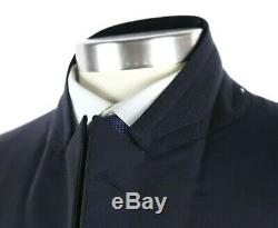 NWT $2395 DUNHILL Italy Solid Navy Wool Mohair Slim-Fit Tuxedo Suit 42 R (52 EU)