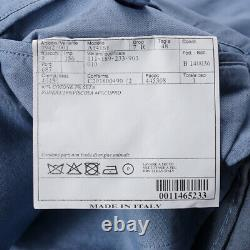 NWT $2495 BELVEST Slim-Fit Sky Blue Lightweight Cotton-Silk Suit 38R (Eu 48)
