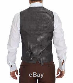 NWT $2600 DOLCE & GABBANA Brown Silk Wool 3 Piece Slim Fit Suit EU46 /US36 /S
