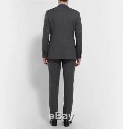 NWT $2600 Kingsman Grey Slim-Fit Single-Breasted Nailhead-Wool Suit UK38R