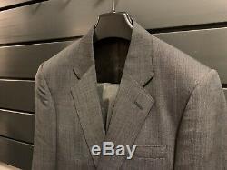 NWT $2600 Kingsman Grey Slim-Fit Single-Breasted Nailhead-Wool Suit UK38S