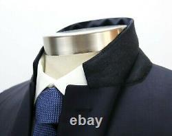 NWT $2680 PRADA Wool Mohair Suit 38 R (48 EU) Navy Two Button Slim Fit Mens
