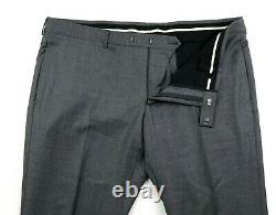 NWT $2750 GUCCI Monaco Grey Plaid Wool Two Button Suit Slim 48 R fits 46 (58 EU)