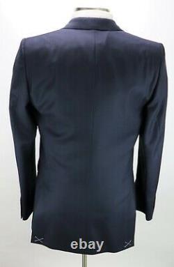 NWT $2790 BURBERRY LONDON Wool Suit 42 R (fits 40 R) Dark Blue Birdseye Sitwell