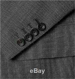 NWT $2800 Kingsman Grey Slim-Fit Single-Breasted Nailhead-Wool Suit UK36R