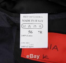 NWT $3895 ISAIA Slim-Fit Charcoal Gray Woven'Tonic 2-Ply' Wool Suit 46 R