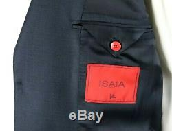 NWT $4150 ISAIA Solid Dark Blue Super 120's Wool Suit Slim-Fit 40 R (50 EU)