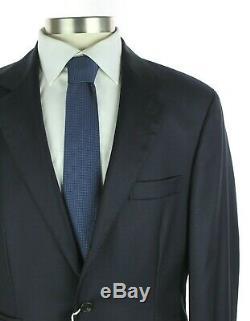 NWT $4295 BRUNELLO CUCINELLI Navy Blue Twill Wool Suit Slim Fit 44 R (54 Eu)