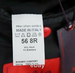 NWT $4295 ISAIA Wool Suit 46 R fits 44 R Grey Blue Plaid Dynamic Comfort Sanita