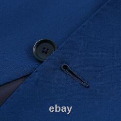 NWT $4995 MAURO BLASI Slim-Fit Handmade Medium Blue Wool Suit 42 R (Eu 52)