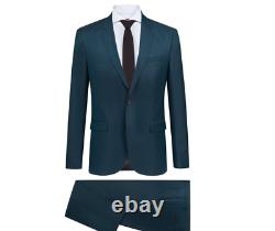 NWT$895 HUGO BOSS Extra Slim Fit Two Button Notch Lapel Wool Suit Dark Green 38R