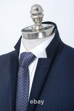 NWT $895 Men's HUGO BOSS Genius 5 Navy Striped Wool Slim Fit Suit 40 R (EU 50)