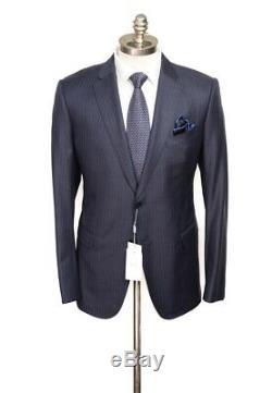 NWT ARMANI COLLEZIONI M Line Navy Chalkstripe Slim 2Btn Suit 54 fits 44 / 42 R