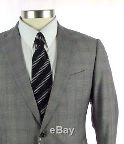 NWT ARMANI COLLEZIONI M Line Slim Fit Grey Wool 2Btn Flat Front Suit 50 40 40R