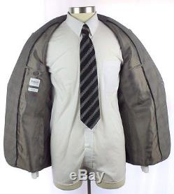 NWT ARMANI COLLEZIONI M Line Slim Fit Grey Wool 2Btn Flat Front Suit 50 40 40R