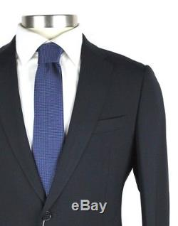 NWT ARMANI COLLEZIONI M Line Slim Fit Navy Wool 2Btn Flat Front Suit 48 38 R
