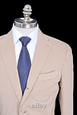 NWT BOGLIOLI Italy K Jacket Beige Birdseye Cotton Slim Fit Suit 50 40 R Drop 6