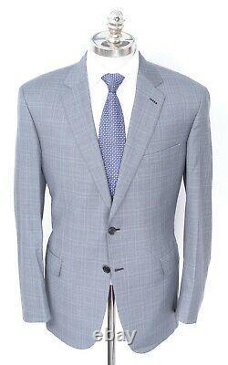 NWT BRIONI Colosseo Gray Check All Seasons Wool 2 Btn Slim Fit Suit 44 R (EU 54)