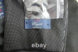 NWT Brooks Brothers 1818 Regent Fit Black Pinstripe Wool Suit 40L MSRP $1298