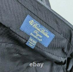 NWT Brooks Brothers Brookscool Wool Regent Fit Men's Suit Gray Plaid Sz 40L 34W