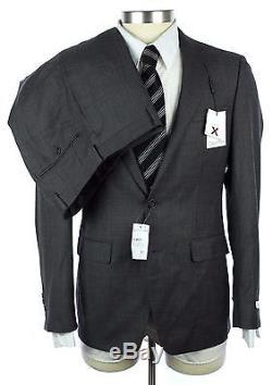 NWT CALVIN KLEIN Grey/Brown Wool X Slim Fit 2Btn Flat Front Suit 38 38R $650