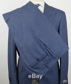 NWT CANALI 1934 Blue Birdseye Wool 2 Button Slim Fit Suit Size 52/42 R $1895
